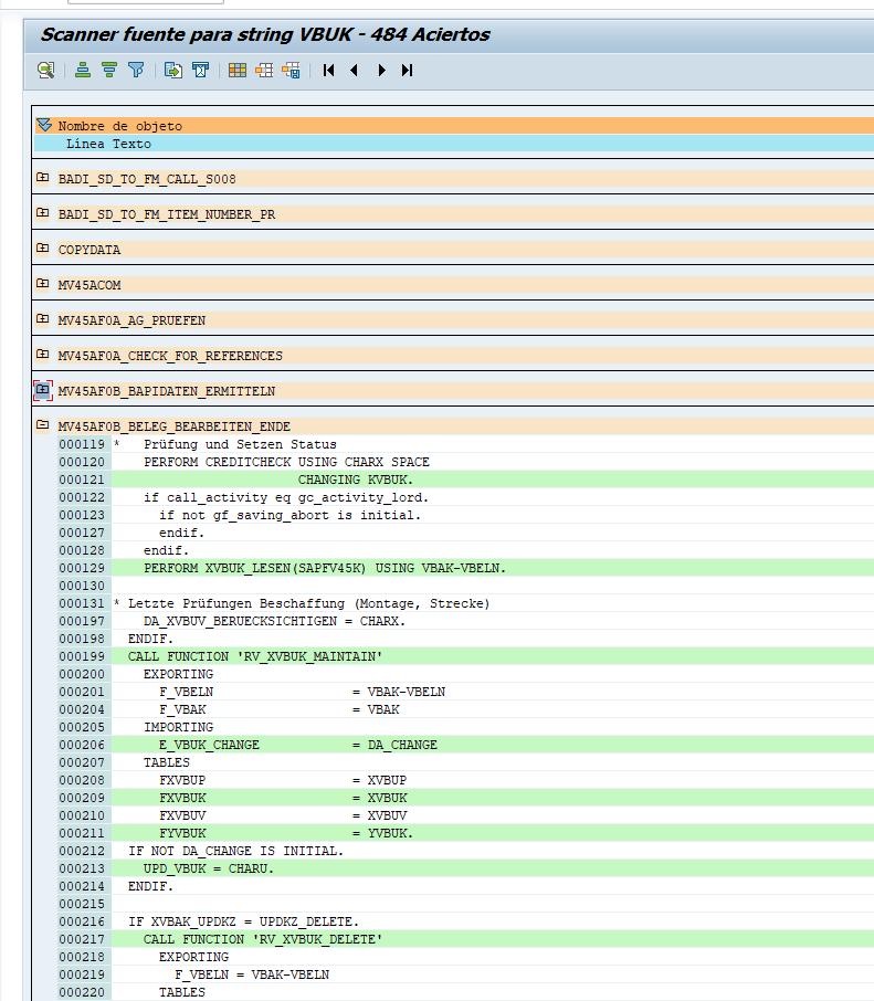 RPR_ABAP_SOURCE_SCAN. Busca cualquier texto en el sistema.
